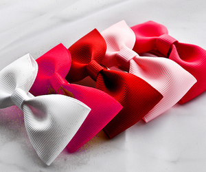 bow, pink, and red image
