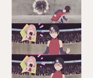 naruto, sakura, and sarada image