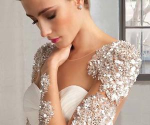bride, wedding dress, and fashion image