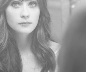 beautiful, black and white, and zooey deschane image