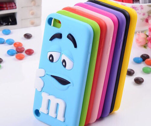 case, iphone, and m&m image