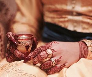 eid, henna, and girls image