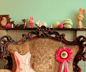 bunnies, interior, and kitsch image
