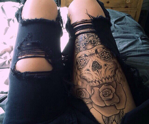 tattoo, black, and jeans image