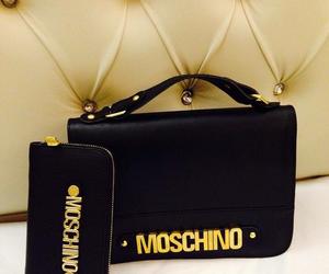 bag, black, and Moschino image