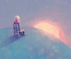 art, chair, and sadness image