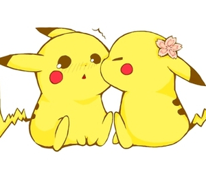 pikachu, pokemon, and kiss image