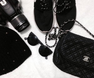 black, canon, and chanel image