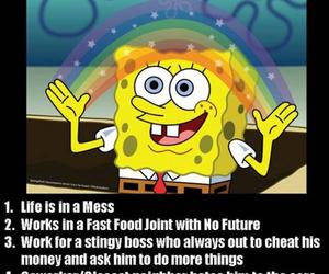spongebob, funny, and life image