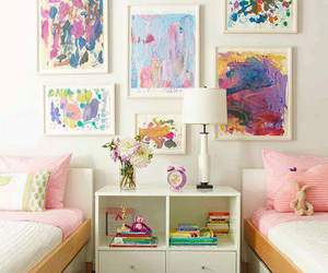 bedroom, room, and art image