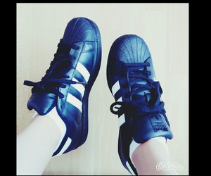 addidas, black, and superstar image