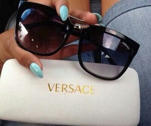 Versace, sunglasses, and nails image