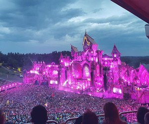 festival, lights, and purple image
