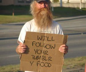 tumblr, funny, and homeless image