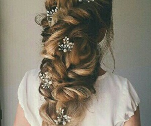 hair, style, and wedding image