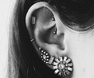 blackandwhite, dope, and ear image