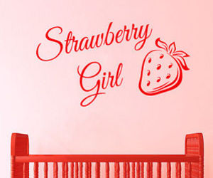 wall decals, strawberry girl, and vinyl sticker image