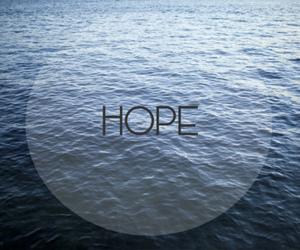 hope, sea, and blue image
