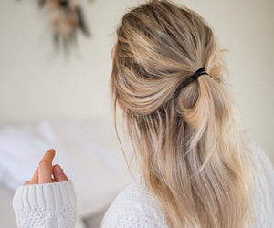 blonde, hair styles, and hair image
