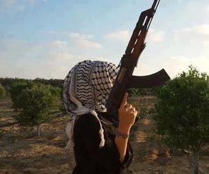 🔫, girl, and gun image