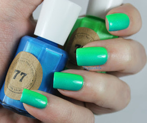 manicure, nails, and neon image