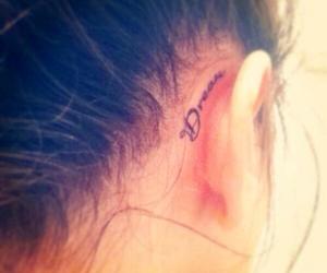 tattoo, Dream, and ear image