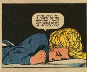 sad, quotes, and comic image