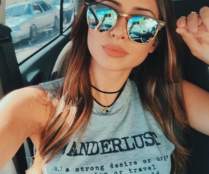 girl, summer, and sunglasses image