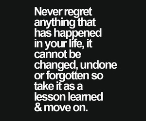 move on and regret image