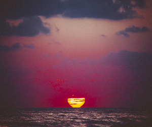 nature, sunset, and vintage image