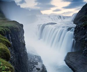 iceland, waterfall, and awesome image