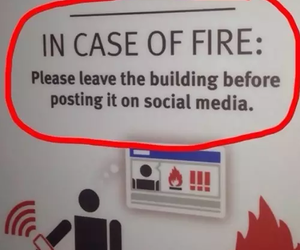 fire, funny, and social media image