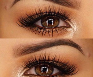 eyes, makeup, and cute image