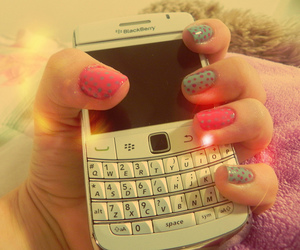 nails, blackberry, and pink image