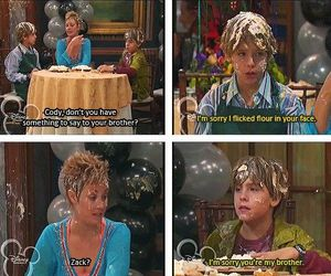 funny, zack and cody, and brothers image