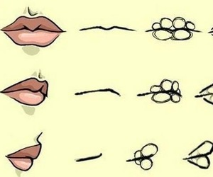 lips, drawing, and draw image