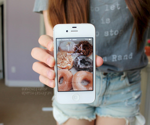 iphone, donuts, and quality image