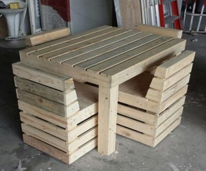 pallets furniture, pallets wood creations, and pallets creations image