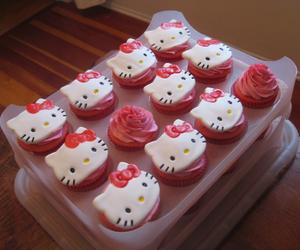 cupcake, food, and hello kitty image