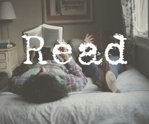 bed, read, and books image