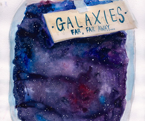 galaxy, stars, and art image