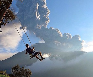 swing, sky, and ecuador image