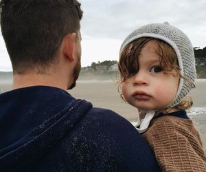 baby, beach, and boy image