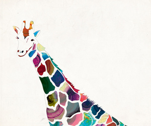 giraffe, art, and animal image