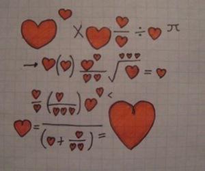love, heart, and math image