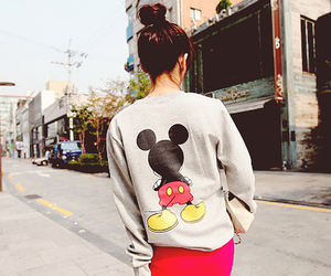 girl, mickey mouse, and mickey image