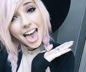 pink hair, pink, and leda muir image