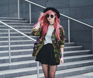 fashion, grunge, and hair image