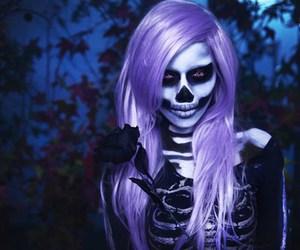 black, Halloween, and purple image
