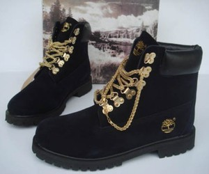 black, timberland, and shoes image